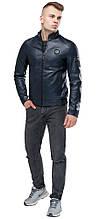Темно-синяя мужская молодежная куртка непромокаемая осенне-весенняя модель 43663 (ОСТАЛСЯ ТОЛЬКО 50(L))