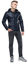 Короткая темно-синяя куртка осенне-весенняя молодежная модель 15353