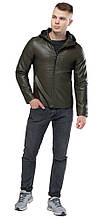 Куртка молодежная цвета хаки осенне-весенняя мужская модель 15353