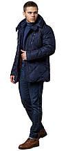 Зимова темно-синя куртка з ґудзиками чоловіча модель 12481
