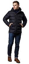 Зимова чорна чоловіча куртка на блискавці модель 20180 (ЗАЛИШИВСЯ ТІЛЬКИ 46(S))