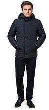 Зимова чоловіча куртка синя з кнопками модель 24534