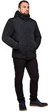Графітна чоловіча куртка практична на зиму модель 19121