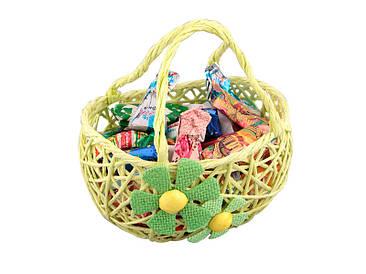 Изделие декоративное корзинка с цветами 18х10см
