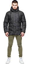 Темно-сіра куртка молодіжна дизайнерська зимова для чоловіків модель 25460
