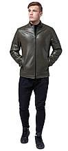 Осінньо-весняна куртка кольору хакі чоловіча молодіжна модель 4129