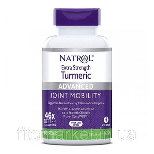 Turmeric Extra Strength (куркумин) ТМ Natrol / Натрол капсулы № 60