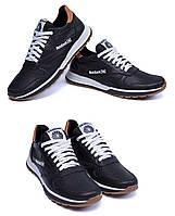 Мужские кожаные летние кроссовки, перфорация Reebok Classic black (реплика). Мокасины, кеды повседневные