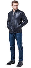 Чоловіча осінньо-весняна куртка молодіжна темно-синя модель 4834