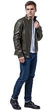 Осенне-весенняя молодежная мужская куртка цвета хаки модель 4834