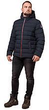 Куртка коротка чоловіча зимова колір темно-синій-червоний модель 45115 48 (M)