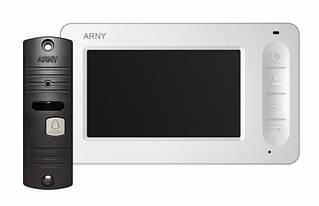 Комплект домофон + вызывная панель Arny AVD-4005 White/Brown