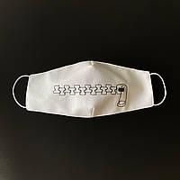 Защитная маска для лица Zipper Белый