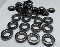 Нержавіючий люверс 10 мм темний нікель (1000 шт.уп.)