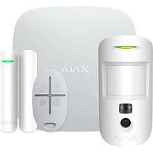 Комплект охоронної сигналізації Ajax StarterKit Cam White (16583.42.WH1/20293.58.WH1)