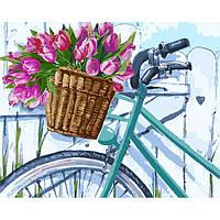 Картина рисование по номерам Идейка Утренние тюльпаны 40х50см КНО2219 набор для росписи, краски, кисти, холст