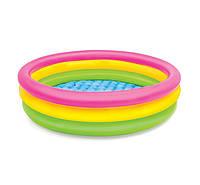 Детский  бассейн с надувным дном Intex 57412NP