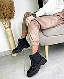 Женские демисезонные ботинки Челси на тракторной подошве, фото 5