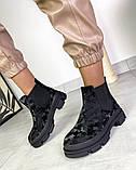 Женские демисезонные ботинки Челси на тракторной подошве, фото 2