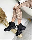 Женские демисезонные ботинки Челси на тракторной подошве, фото 3