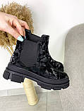 Женские демисезонные ботинки Челси на тракторной подошве, фото 4