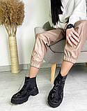 Женские демисезонные ботинки Челси на тракторной подошве, фото 7