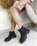Женские демисезонные ботинки Челси на тракторной подошве, фото 6