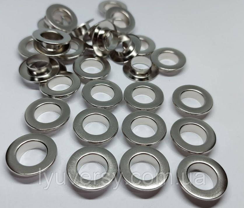 Нержавіючий люверс 12 мм нікель (1000 шт.уп.)