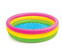 Детский  бассейн с надувным дном Intex 57422NP