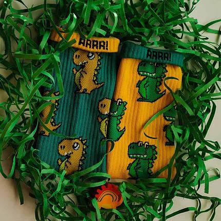 "Носки Дед Носкарь мужские 41-45 ""Draco"" желто-зеленые, фото 2"