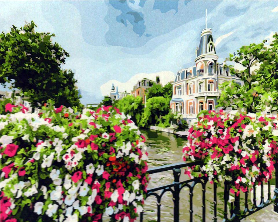 Картина рисование по номерам Brushme Амстердам GX21698 40х50см набор для росписи, краски, кисти холст
