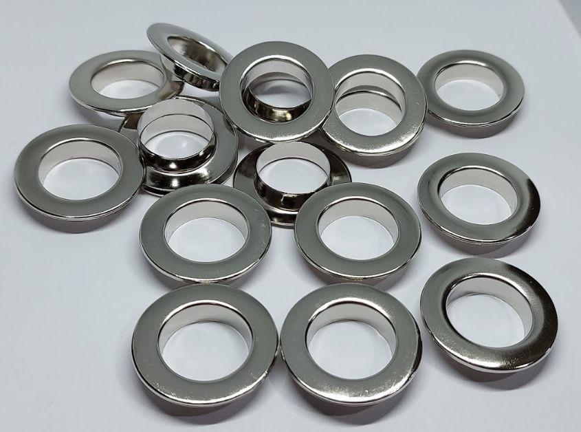 Нержавіючий люверс 15 мм нікель (1000 шт.уп.)