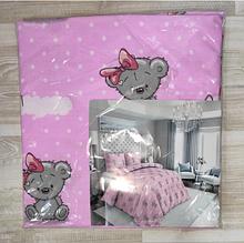 Комплект постельный детский 3 предмета,простынь на резинке , цвета арт 292 . розовый Мишки Тедди