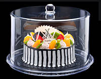 Подставка для торта с крышкой акрил 34.5*34.5*24 см