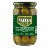 Оливки зеленые фаршированные перцем Mazza 316 г