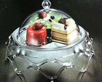 Подставка для торта с крышкой акрил 43*43*23 см
