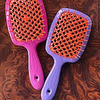 Гребінець для волосся Janeke 1830 Superbrush, салатовий з помаранчевим