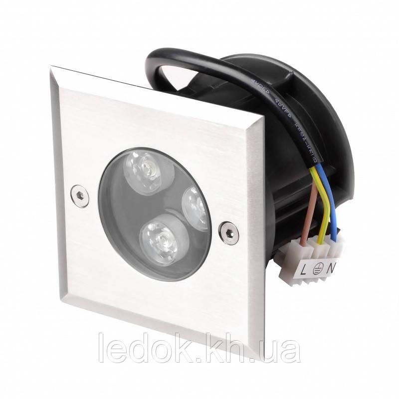 Светильник грунтовой LED садовый встраиваемый IP68 312/3W NW