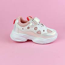 7978W Білі Кросівки для дівчинки тм Тому.М розмір 21,22,23,24,25, фото 2