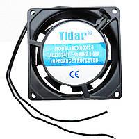 Вытяжной осевой вентилятор Tidar 80×80×25мм, 220В, 17Вт (квадратный)