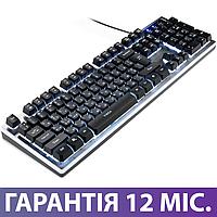 Клавиатура с подсветкой Vinga KBG839 USB черная, светящаяся клава с подсветкой клавиш