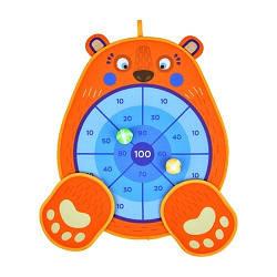 """Дартс двусторонний """"Медвежонок"""", 6 липких шариков и 1 игровой щит, MD6064"""
