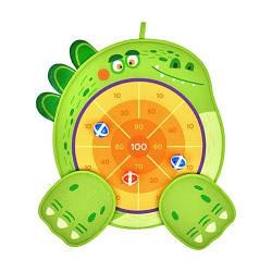 """Дартс двусторонний """"Динозавр"""", 6 липких шариков и 1 игровой щит, MD6065"""