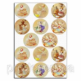 Капкейки-6 см Кухонні феї вафельна картинка