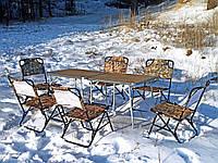 """Туристический набор мебели для пикника, отдыха на природе, кемпинга """"Классический О2+6"""" (2 стола + 6 стульев)"""