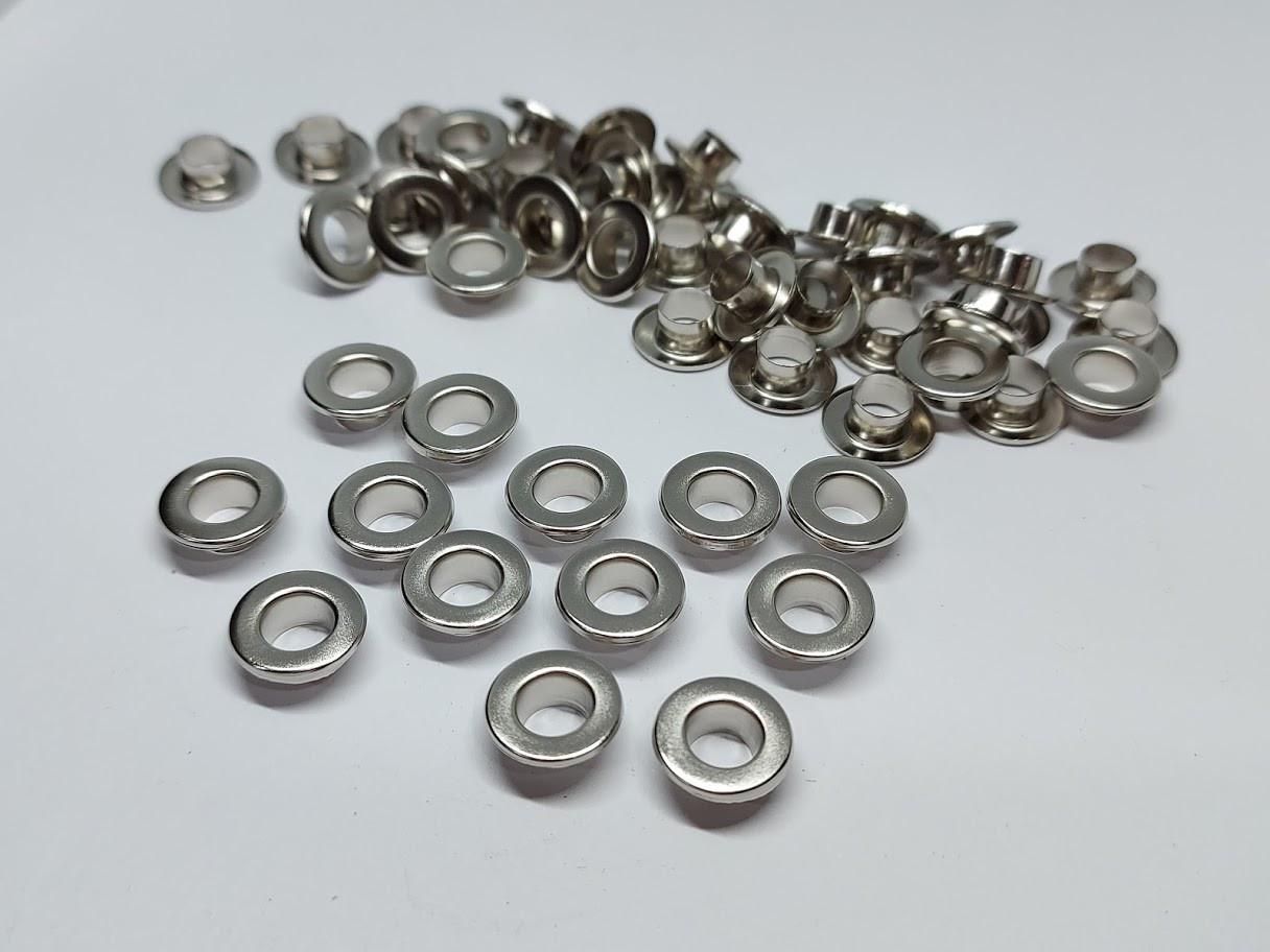 Нержавіючий люверс 5 мм нікель (100 шт.уп.)