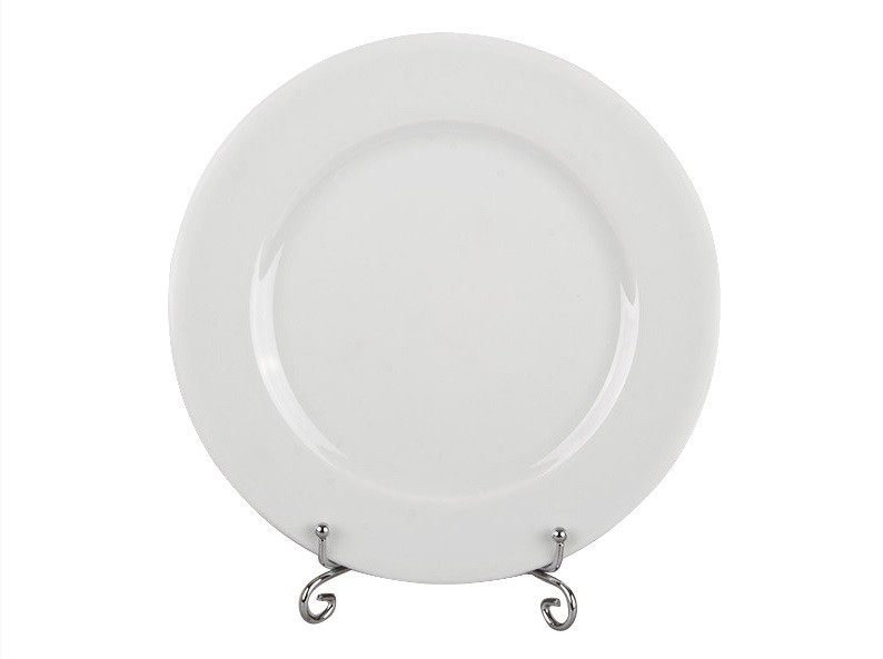 "Біла велика скляна тарілка ""Frig"", діаметр 27 см"
