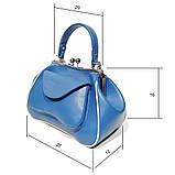 Сумка-ридикюль с накладным карманом, цвет синий, фото 3