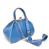 Сумка-ридикюль с накладным карманом, цвет синий, фото 4