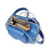 Сумка-ридикюль с накладным карманом, цвет синий, фото 5